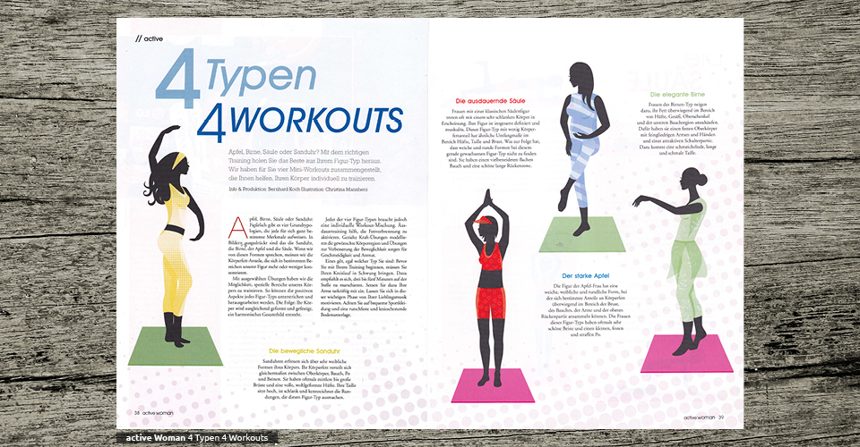 active Woman - 4 Typen 4 Workouts