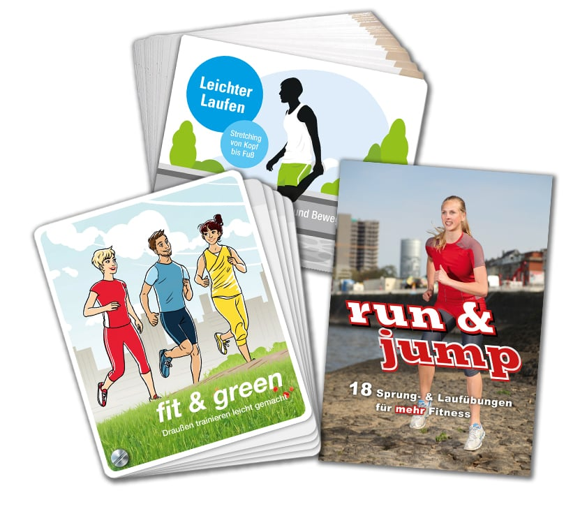 "Buchkarten – Bundle ""Love for Running"""
